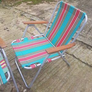 Vintage Picnic Chairs 1960s FANTASTIC CONDITION Deckchairs Fishing RETRO MCM
