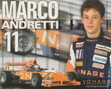 2005 Marco Andretti Vonage MRTI Star Mazda postcard