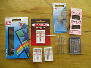 joblot of sewing machine needles and sewing needles new in packs