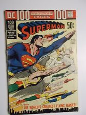 SUPERMAN # 252 - 100 PAGE SUPER SPECTACULAR DC-13 - 1972 NEAL ADAMS WRAP@ COVER