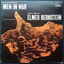Rare Spanish reissue! Elmer Bernstein MEN IN WAR soundtrack LP 1957 Anthony Mann
