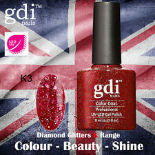 UK SELLER Gdi Nails Diamond Glitters K03 UV/LED Gel Soak Off nail polish