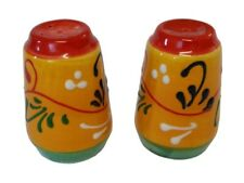 Salt & Pepper Pots 7 cm x 5 cm Traditional Spanish Handmade Ceramic Pottery