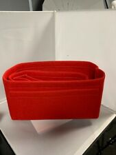 Purse Organizer Felt Fabric Large Red Fits LV Neverfull, Base Shaper Purse and c