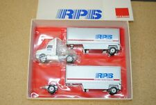1/64 Winross RPS 99 In International Double Pup Semi Tractor Trailer