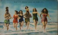 Vintage Postcard Divided Back Rockaway Beach, Long Island, NY Swimsuits Women