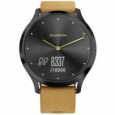 Garmin Unisex Reloj inteligente vívomove HR Ana-digi Dial Correa De Gamuza Bronceado 010-01850-10