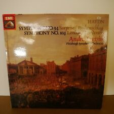 ASD 3839 HAYDN Symphony 94 104 PREVIN PITTSBURG EMI STAMP STEREO LP EX