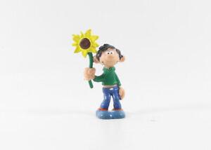 Gaston === Figur mit Sonnenblume Schleich Franquin