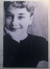 Movie Postcard ~ Audrey Hepburn smiling sunny B&W