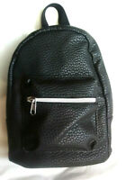 """Fashion Women's Backpack Purse Faux Leather Black H10""""xW7""""xSide:3"""""""