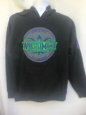 Wrestlemania 34 WWE Authentic Hoodie Sweatshirt Gray size L cotton New Orleans