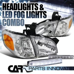 97-05 Venture Silhouette 99-05 Montana Chrome Head Corner Lights+8-LED Fog Lamps