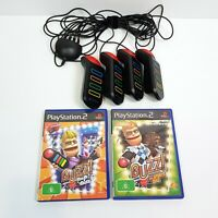 BUZZ! The Pop Quiz / Sports Quiz + 4 Buzzers Sony Playstation 2 PS2 Game Bundle