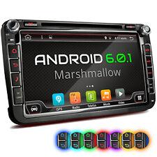 AUTORADIO MIT ANDROID 6.0.1 NAVI GPS DVD USB SD WLAN PASSEND FÜR VW SEAT SKODA