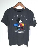 New NEFF Disney Mickey Mouse Boy's T-Shirt Size L Grey Charcoal Multicolor