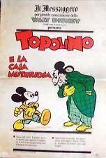 IL MESSAGGERO TOPOLINO E LA CASA MISTERIOSA DISNEY 1990