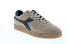 Diadora Kick 173100-25066 Mens Brown Suede Lace Up Lifestyle Sneakers Shoes
