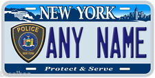 New York Police Any Name Novelty Auto Car License Plate