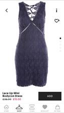 Topshop Purple Floral Lace Corset Dress Size 12