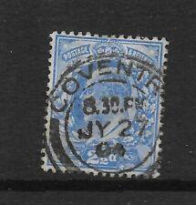 Rey Eduardo VII 2 1/2 D azul ultramar con JY 27 04 Coventry cancelar ref 1261