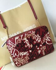 Michael Kors Graffiti Jet Set Leather Cross Body Bag NEW Valentines  Ltd Ed