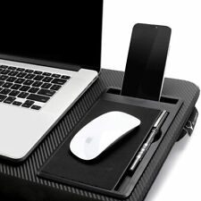 Laptop Lap Desk Table with Tablet Tray,Cell Phone Tray,Pen Tray, Laptop Stop