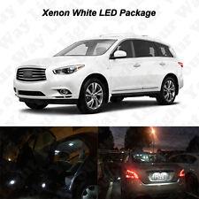13x White LED Interior Bulbs + License Plate Lights For 2013-2016 2017 JX35 QX60
