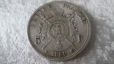 Monnaie ECU 5 francs Napoléon III tête laurée 1869 BB petit ? / belle pièce