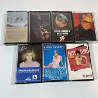 Classic Country Cassette Tape Lot Waylon Willie Nelson George Jones - 7 total