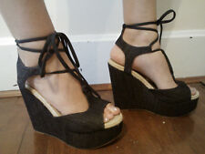 Gap 9 New $110 Design Editions By Pierre Hardy Lace Up Wedge Platform Sandals 9