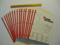 Vintage Lot of 16 Coca-Cola 'Name the States' Notepads & 1 Coke Ruler in VGC