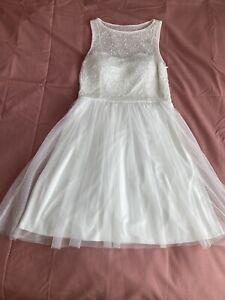 Wedding Dress, Short Knee Length, Size 10 Dorothy Perkins Amaya Dress White