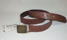 Burton Womens Brown Embossed Leather Belt Medium