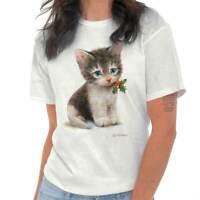 Holly Kitten Christmas Cat Lady Pet Lover Mom Xmas Gift Classic T Shirt Tee