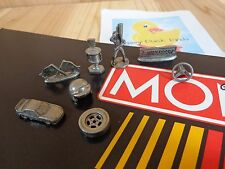Monopoly NASCAR Edition 8 PEWTER TOKENS Replacement Game Parts 1997 Parker Bros