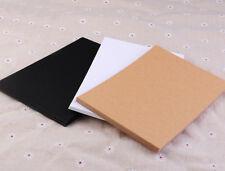 50x White/Brown/Black Blank Kraft Paper Card Bookmarks DIY Greeting Card 10x15cm
