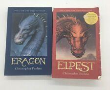 Lot of 2 Inheritance Cycle Series Christopher Paolini Books Eragon Eldest