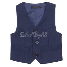 Baby Boys Kids Gentleman Formal Outfits Suit Vest Tuxedo Wedding Party Outwear