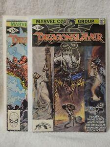 Dragonslayer #1-2 (1981) Complete Set Marvel Comics VF+