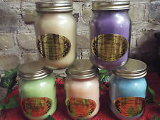PINT JAR SOY CANDLES - COUNTRY MASON JAR - 16oz - U PICK FRAGRANCE