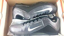 New Nike Alpha Strike 2 TD Size 14 Gray Black Football Cleats Shoe MSRP $65