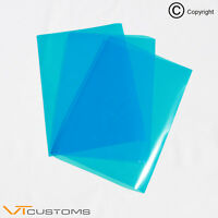 3 x A5 sheets Medium Blue Headlight Film for Fog Lights Tint Car Vinyl Wrap