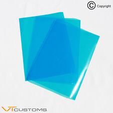 3 x A5 feuilles bleu moyen phare film pour feux de brouillard Teinte Voiture Vinyle Wrap