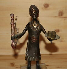 Vintage Middle east hand made metal figurine man with hookah