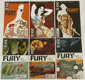 Fury My War Gone By Complete 13 Issue Marvel Max Mini-Series Garth Ennis 1-13
