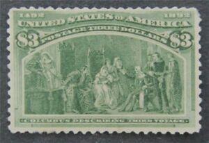 nystamps US Stamp # 243 Mint OG H $1500   L30x1386