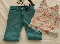 IKKS & 3 POMMES - Girls Sz 6 yrs Designer Jeans & Top Outfit - NWT
