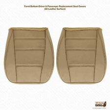2002 2003 2004 Ford Mustang V6 Driver & Passenger Bottom Leather Seat Cover Tan