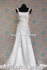 1538 White Ivory wedding dress Sheath silhouette Denise straps made to measure